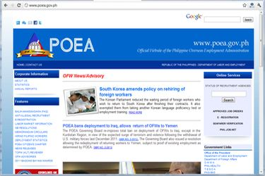Poea Job Opening Foreign Country http://www.overseas-filipinos.com