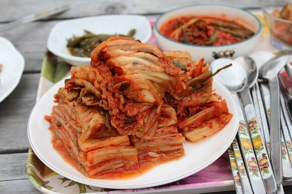 Kimchi food in South Korea