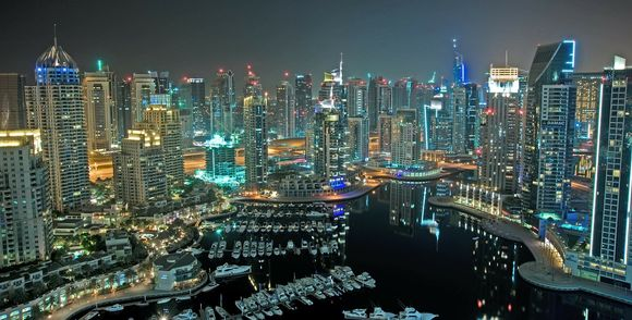 Dubai Skyline at Night, Information on United Arab Emirates