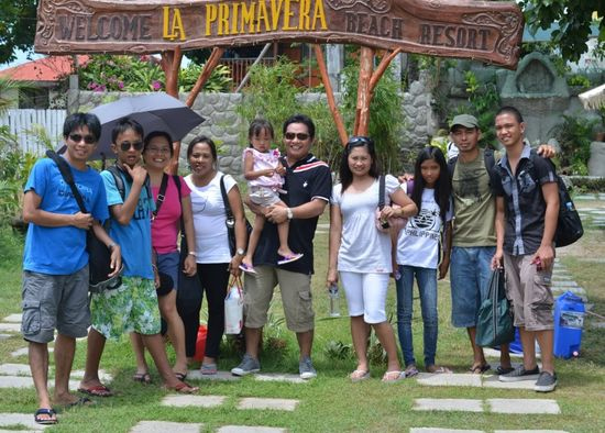Before going home from La Primavera Beach Resort, Matabungkay Batangas.