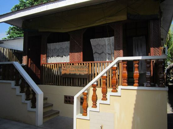 Matabungkay Batangas: La Primavera Beach Resort duplex cottage just behind the beachfront room.