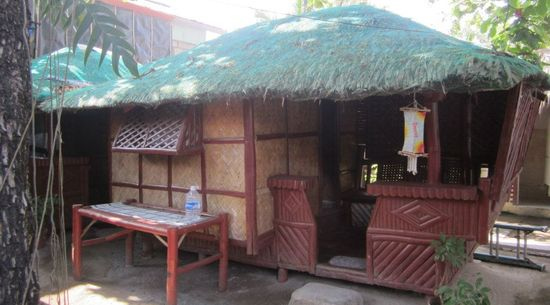 Small nipa hut opposite the grilling area, La Primavera Beach Resort, Matabungkay Batangas.
