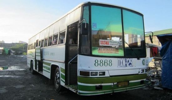 This bus brought us to Matabungkay Batangas for P160 each.