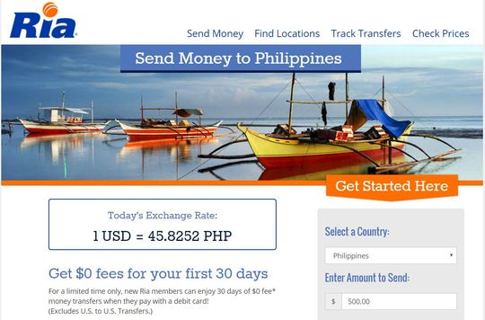 Ria Money Transfer Philippines
