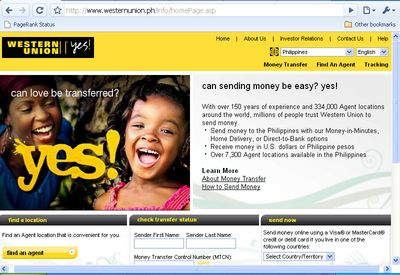 Send Money Through Western Union Philippines