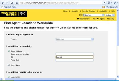 Send Money Through Western Union Philippines