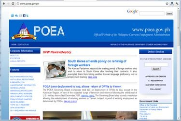 jobs abroad poea, filipino, poea website, poea job vacancy