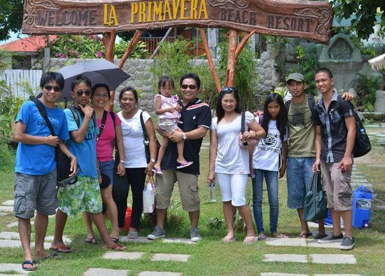 Before going home from La Primavera Beach Resort, Matabungkay Batangas.