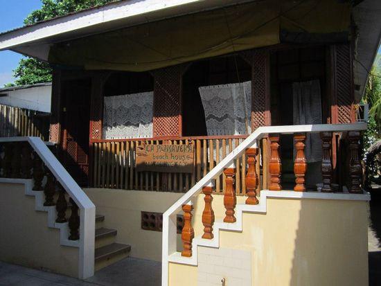 Matabungkay Batangas: La Primavera Beach Resort duplex cottage just behind the beachfront room.
