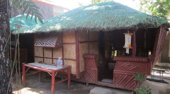 Small nipa hut opposite the grilling area, La Primavera Beach Resort, Matabungkay Batangas.