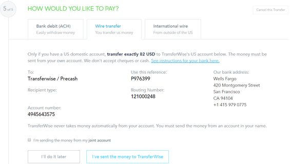 Money Transfer To The Philippines TransferWise Funding Options